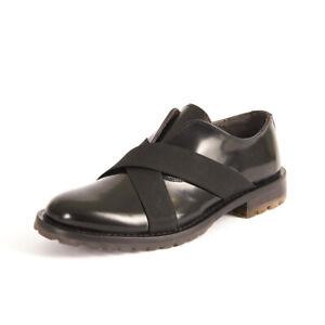 HAMAKI-HO-Chaussures-Noir-Cuir-Verni-RRP-183