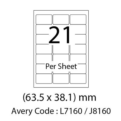 A4 SHEETS OF PLAIN WHITE SELF ADHESIVE ADDRESS LABELS 21 PER PAGE *SELECT QTY*