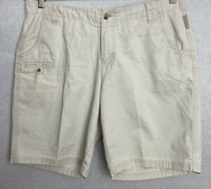 Columbia-Women-039-s-Outdoor-Bermuda-Shorts-Khaki-Beige-Sz-14-Belted-Pockets-Cotton