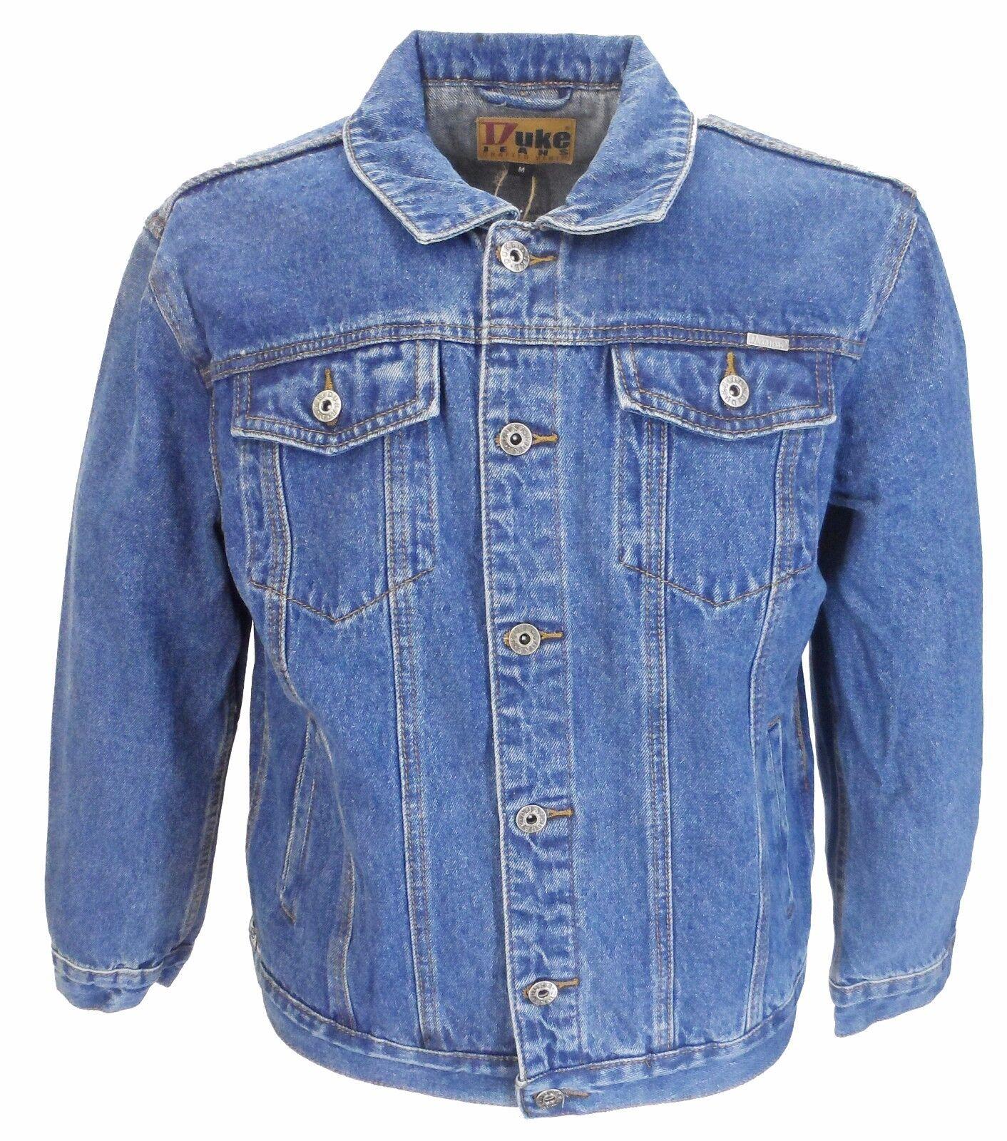 blue Délavé Mode Rétro Motard Jeans Camionneur Veste ` S