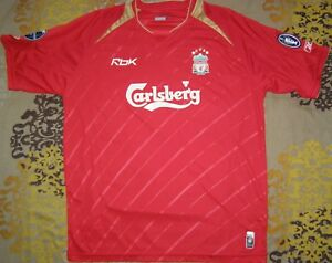 brand new bf2b5 34660 Details about Gerrard 8 Liverpool 2005 - 2006 home shirt Champions League  Winners