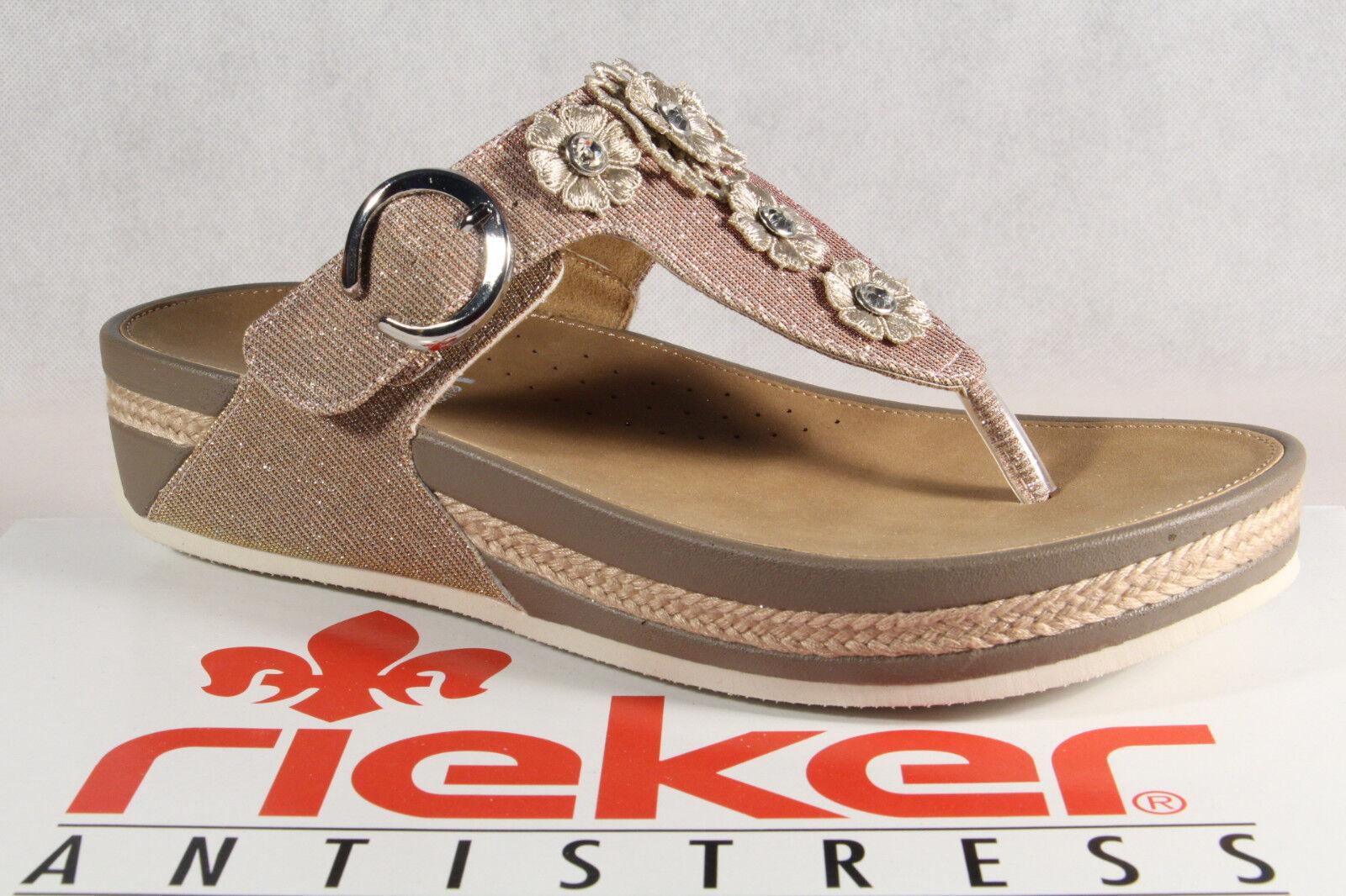 Rieker Donna dita dei piedi STEG Sandali Sandali Sandalo Sandali Rosa v1451 NUOVO!