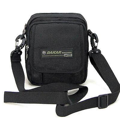 Men's Black travel Small shoulder bag messenger bag Camera case bag Fanny pack