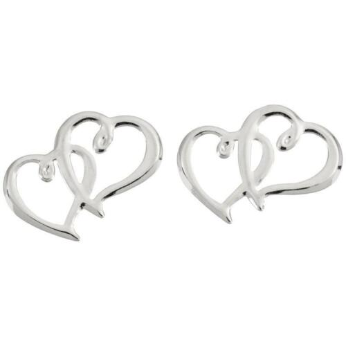 15 pack Wilton W6411 Sweetheart Charms Silver Double Hearts Wedding Cake Decor