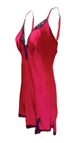Rouge GORGE-Donna Mozzafiato Di Alta Qualità Profondo Rosso Chemise /& corrispondenza Wrap