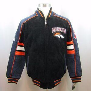 Details about NFL Denver Broncos Mens Varsity Letterman Suede Leather Black Jacket New L, XL
