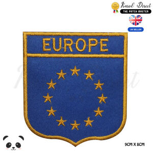 Europe-Union-Flag-With-Name-Embroidered-Iron-On-Sew-On-Patch-Badge