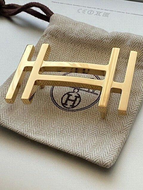38MM Hermès Belt Buckle Gold AU CARRE Original Merchandise Belt Buckle