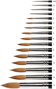 Winsor /& Newton Series 7 Kolinsky Sable Watercolor Brush #0
