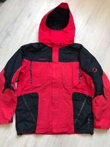 Men's Mammut Goretex XCR Mountain Red Jacket Size XL