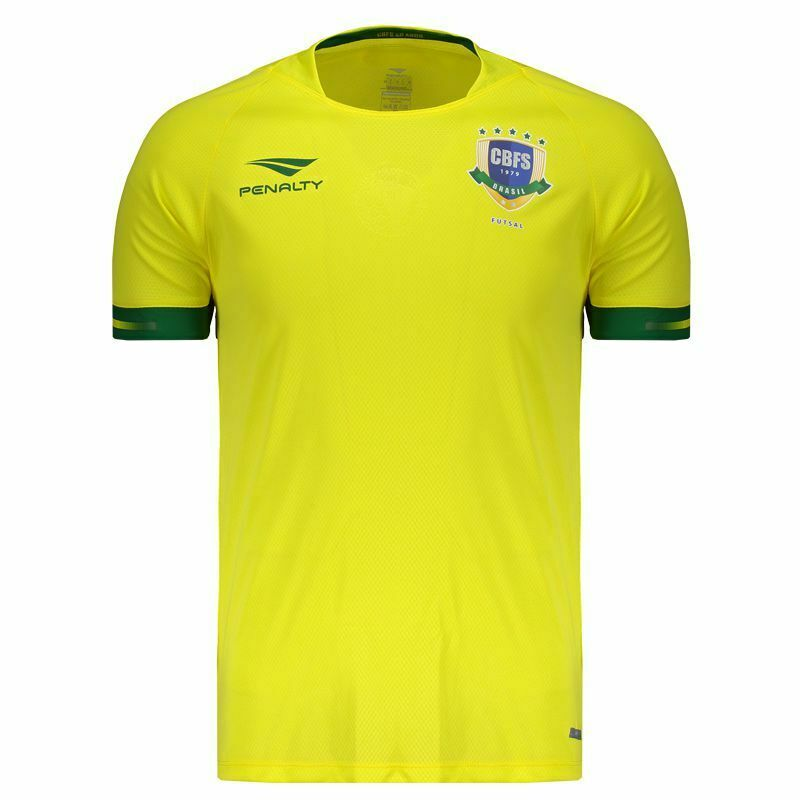 Brazil Futsal Home Soccer Jersey Shirt  2019 Penalty Brazil