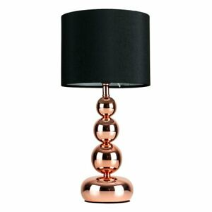Details About Black Copper Rose Gold Table Lamp Touch Dimmer Black Shade Home Decoration Chic