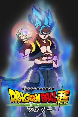 Dragon Ball Super Broly Movie Gogeta Blue Poster 1 2body W Ki Ball12inx18in Ebay