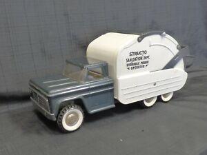 1960s-STRUCTO-Hydraulic-Sanitation-Garbage-Truck-Toy