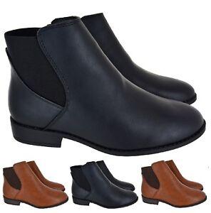 LADIES-WOMENS-ANKLE-ZIP-FLAT-LOW-BLOCK-HEEL-CHELSEA-BUCKLE-BOOTS-SHOES-SIZE-3-8