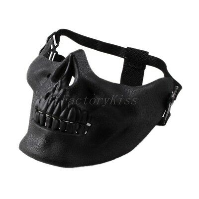 NEW Skull Skeleton Airsoft Hunting Biker Ski Half Face Protect Gear Mask Guard