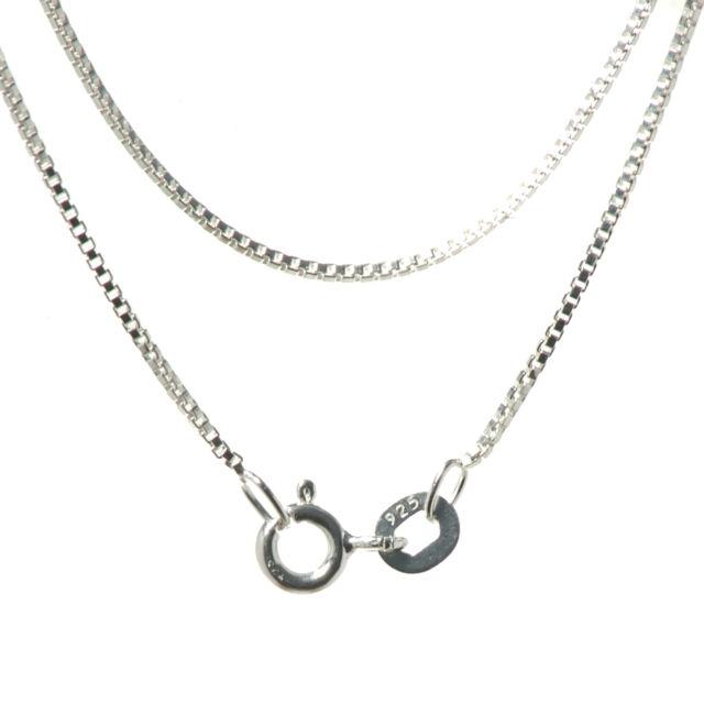 Venezianer Kette Halskette Silberkette 0,9 mm 925 Sterling Silber massiv Venezia
