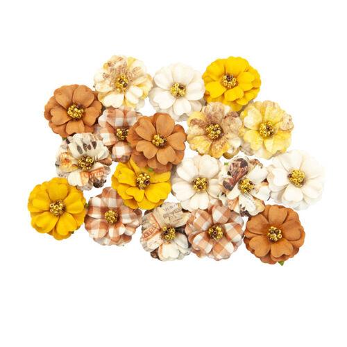 Prima Autumn Sunset Collection Flower Embellishments Pumpkin Spice 642808
