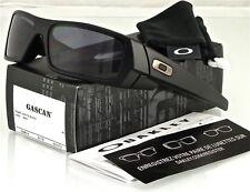 Oakley 03-473 Gascan Matte Rectangular Sunglasses 60mm - Black/Gray