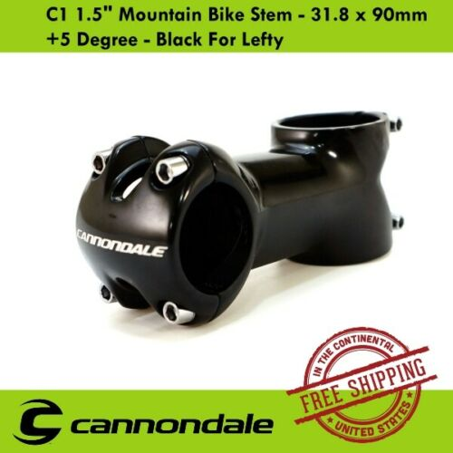 "Cannondale C1 1.5/"" Mountain Bike Stem Black For Lefty 31.8 x 90mm 5 Degree"