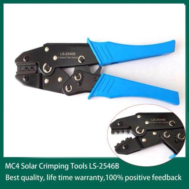 MC4 Solar PV cable Crimp Tools Terminal Ratcheting Crimper Tool Crimping Pliers