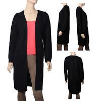 Women's Waffle Duster Long Knit Cardigan Open Front Long Sleeves Sweater