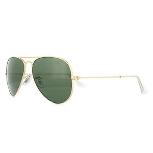 1a60080ab1915 Ray-Ban Sunglasses Aviator 3025 001 58 Gold Green Polarized Small ...