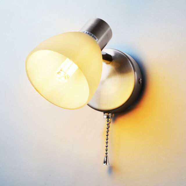 Modern G9 Bathroom Wall Lights Sconce Lamp With Pull Cord Switch Bulb Included