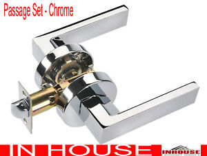Door-handles-lever-handle-Passage-Set-Chrome-finished-6502RD