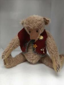 """Vintage OOAK 10"""" Mohair Teddy Bear by Artist Crystal Smythe 1990's"""