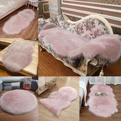 Blush Pink Shaggy Rug Anti Skid Home