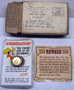 1966-Honeycomb-Cereal-Mail-Away-Contest-Premium-Ring-Excellent-w-Original-Mailer