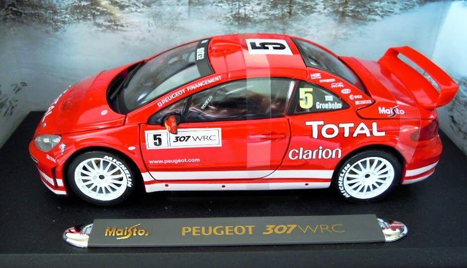Maisto 38693  Peugeot 307 WRC Diecast 1 18, sehr selten, NEU & OVP