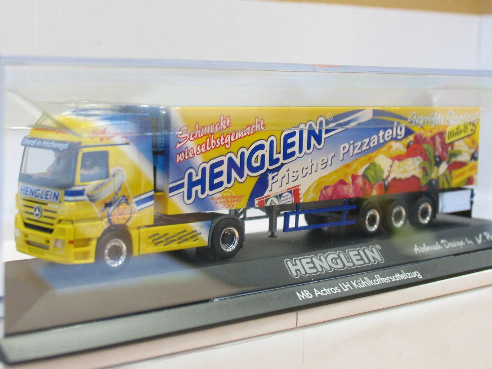 Herpa PC-Modell MB Actros LH Kühlkoffersattelzug Henglein Pizzateig OVP (U9254)  | Lebhaft und liebenswert