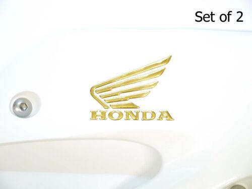 70x60mm 3D Honda Flügel Emblem Gold Motorrad Aufkleber Kraftstofftank Aufkleber