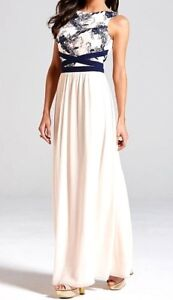 022dedf523b Image is loading New-Womens-Little-Mistress-Embroidered-Maxi-Dress-Navy-