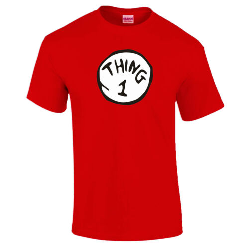 Thing 1 3 4-10 Fancy Dress Book Day T-Shirt Sold Separately 3-4 to 5XL 2