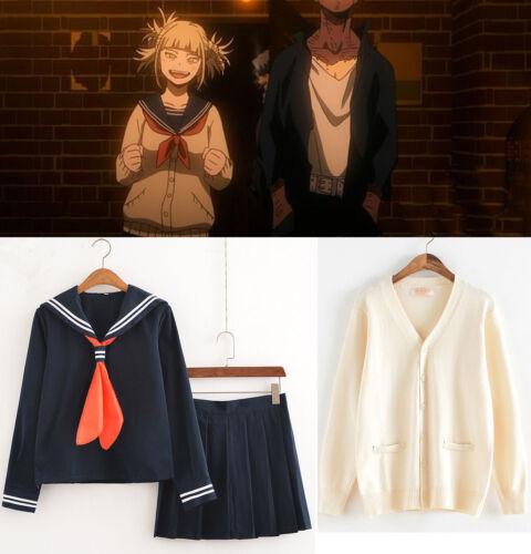 My Hero Academia Himiko Toga Hell Girl JK Sweater Cardigan Coat Dress Costume