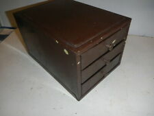 Vintage 3 Drawer Industrial Metal Small Parts Storage Cabinet Bin Box Bench Top