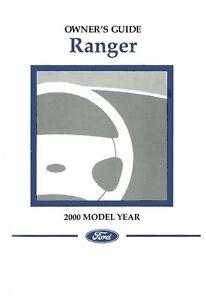 2000 ford ranger owners manual user guide ebay rh ebay com 2000 ford ranger 3.0 owner's manual 1995 Ford Ranger