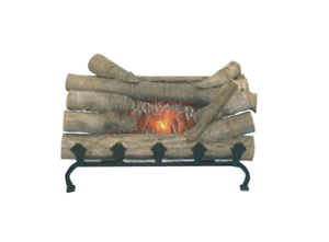 Pleasant Hearth 20 in Electric Crackling Log Set