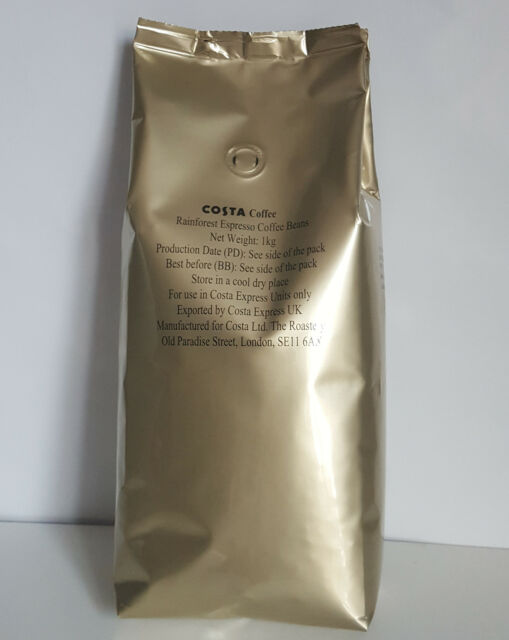 Costa Coffee beans Rainforest original Espresso (1x1kg)   - TRACKED SERVICE -