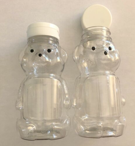 15 Honey Bear Bottles Plastic PET 12oz w//caps New Unused