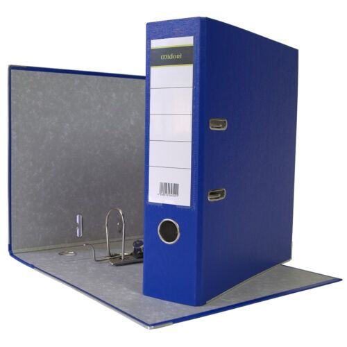 5 x Ordner A4 8 cm PP Kunststoff Blau Aktenordner Briefordner Breit 80 mm
