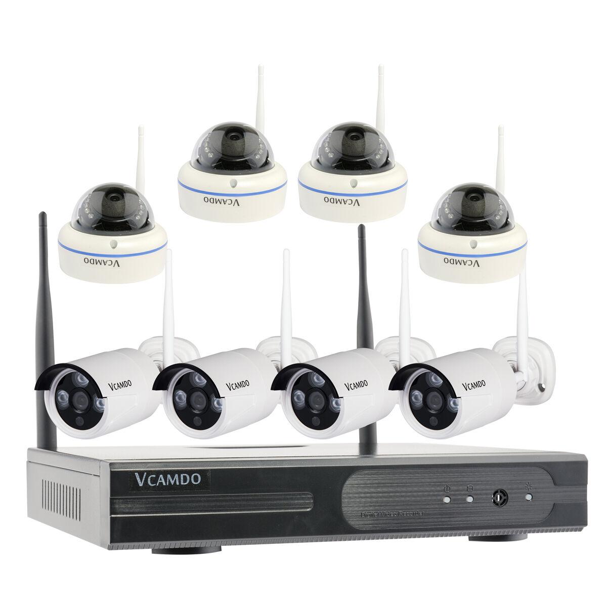 8CH Surveillance CCTV Kit système de caméra de sécurité sans fil domotique