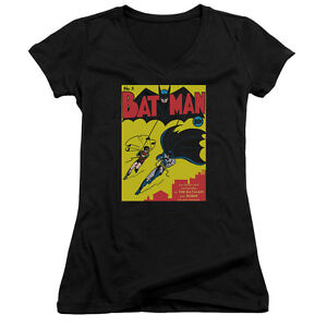BATMAN-FIRST-Licensed-Women-039-s-Junior-V-Neck-Graphic-Tee-Shirt-SM-2XL