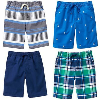 NWT Gymboree Drawstring Active Colorblocked Pull-On Shorts 100/% cotton Boys 8