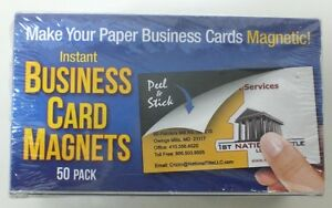50 Peel Stick Business Card Magnets Make Your Business Cards Stick