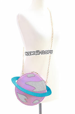 LB-52-2 Saturn rosa Planet Cyber Lolita Bag Harajuku Lolita Umhänge-Tasche