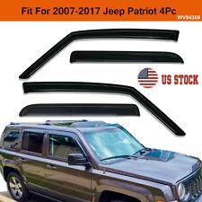 For 2007 2017 Jeep Patriot Smoke Window Visors Sun Rain Wind Guards Vent Shade Fits 2012 Jeep Patriot